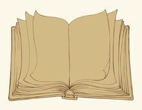 Bosquejo del vector Abra el libro Imagen de archivo libre de regalías
