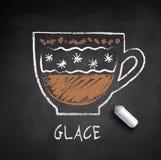 Bosquejo del vector del café Glace ilustración del vector
