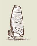 Bosquejo del windsurf Fotos de archivo