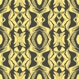 Bosquejo exhausto de la mano del vector del ejemplo inconsútil abstracto del modelo en fondo amarillo libre illustration