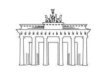 Bosquejo famoso del viaje de Berlín, Alemania stock de ilustración