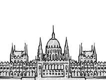 Bosquejo famoso del viaje de Budapest, Hungría libre illustration