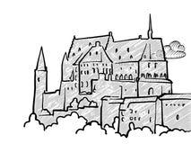 Bosquejo famoso del viaje de Luxemburgo stock de ilustración