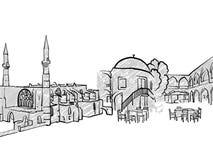 Bosquejo famoso del viaje de Nicosia, Chipre libre illustration