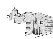 Bosquejo famoso del viaje de Vaduz, Liechtenstein libre illustration