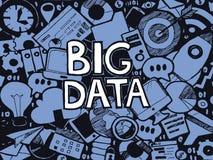 Bosquejo grande del garabato de los datos ilustración del vector