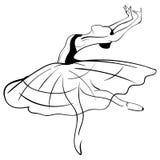 Bosquejo hermoso de la bailarina del dibujo Vector Imagen de archivo libre de regalías