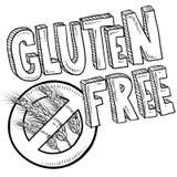 Bosquejo libre del alimento del gluten stock de ilustración