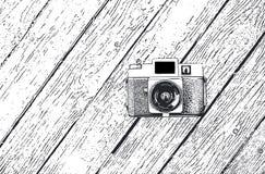 Bosquejo retro de la cámara Fotografía de archivo libre de regalías