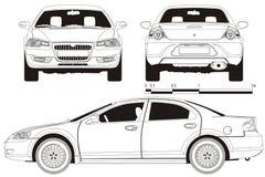 Bosquejo técnico del coche del vector libre illustration