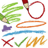 Bosquejos coloreados del lápiz Imagen de archivo libre de regalías