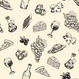 Bosquejos de la cocina italiana Fotografía de archivo