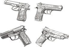 Bosquejos de la pistola Fotografía de archivo libre de regalías