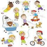 Bosquejos de muchachos Stock de ilustración