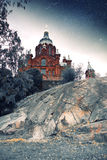 Bosquejos místicos de los países nórdicos Foto de archivo libre de regalías