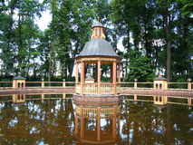 Bosquet Menazheriyny pond in Summer garden. Saint Petersburg, Russia. Tourist attraction. Landmark Stock Photos
