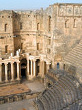Bosra in Syria. Ancient Roman time town Bosra in Syria. Theater details stock photography