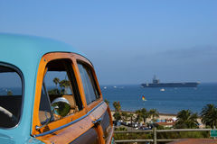 Bosrijk en USS Reagan Stock Foto's