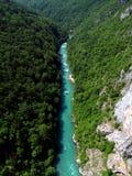 Bosrivier luchtmening Montenegro Royalty-vrije Stock Afbeeldingen