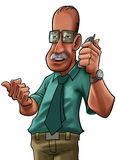 The boss. Senior man with a cell phone Royalty Free Stock Photos