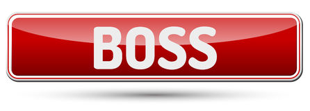 BOSS - Abstract beautiful button with text. Royalty Free Stock Image