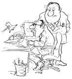 Boss and apprehensive clerk Stock Photo