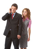Boss and assistant Royalty Free Stock Photo