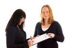 Boss and Assistant Stock Photography