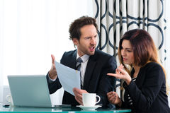 Boss and assistant or in hotel working together Royalty Free Stock Images