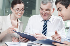 Boss and associates Stock Image