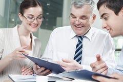 Boss and associates Stock Image