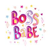 Boss babe hand lettering design. Great for mug design or t shirt print Stock Photography