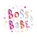 Boss babe lettering design. Great for mug design or female t shirt print Royalty Free Stock Photo