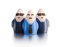 Boss with bodyguards. 3d render concept Stock Photography