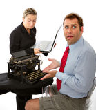 Boss and business man digital divide Stock Photos