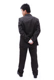 Boss (Business man) holding ball in his back Royalty Free Stock Photos