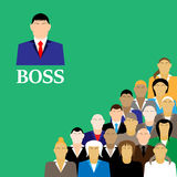Boss and business team. group of office workers. Stock Photos