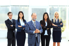 Boss and business team Stock Photos