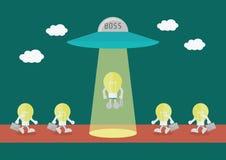 Boss choose idea Stock Image