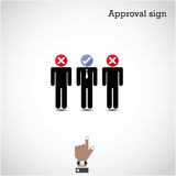 Boss choosing the perfect businessman for the job. Vector illustration Royalty Free Stock Photos