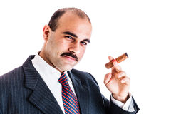Boss with cigar Royalty Free Stock Photos
