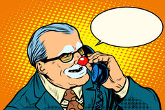 Boss clown on the phone Stock Photography