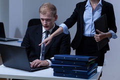 Boss commanding his worker Stock Photography