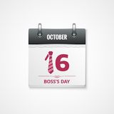 Boss day calendar  background Stock Photography