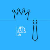 Boss day continuous line vector background Stock Photography