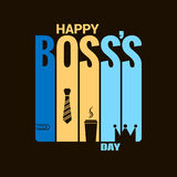 Boss day holiday design vector background Stock Photos