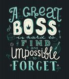 Boss day lettering Stock Photography
