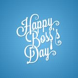 Boss day vintage lettering background Royalty Free Stock Photography