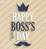 Boss Day wooden poster Stock Photos