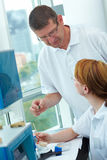 Boss in a dental lab Stock Photos